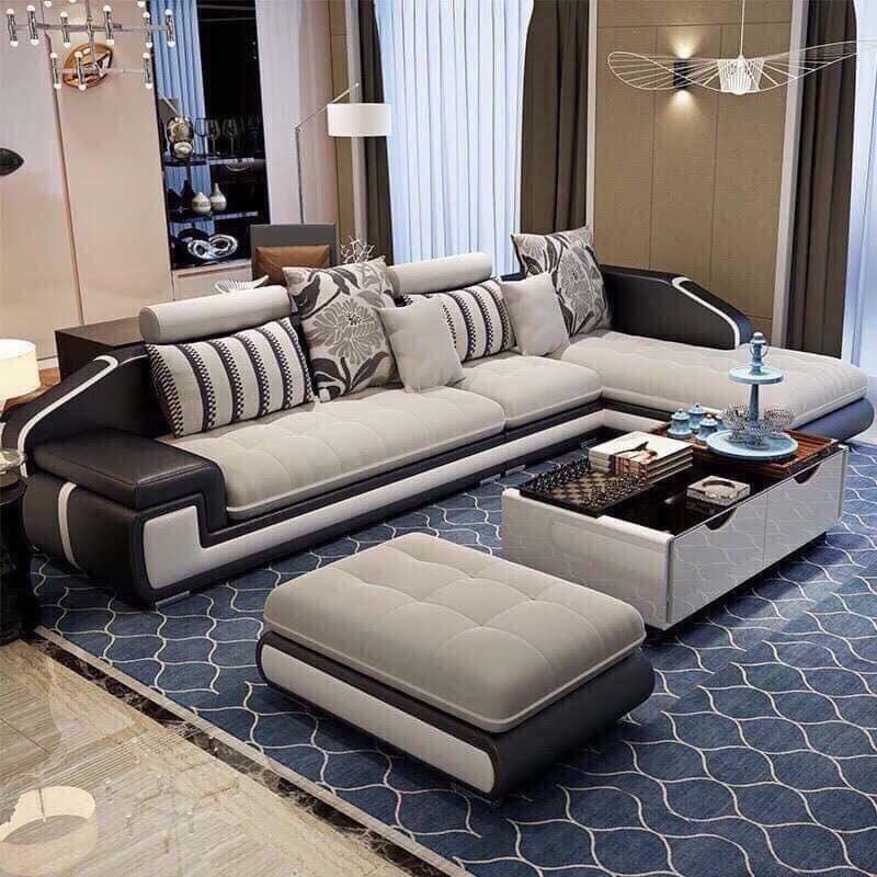 Sofa A10 xám - Nội Thất Kiên Anh