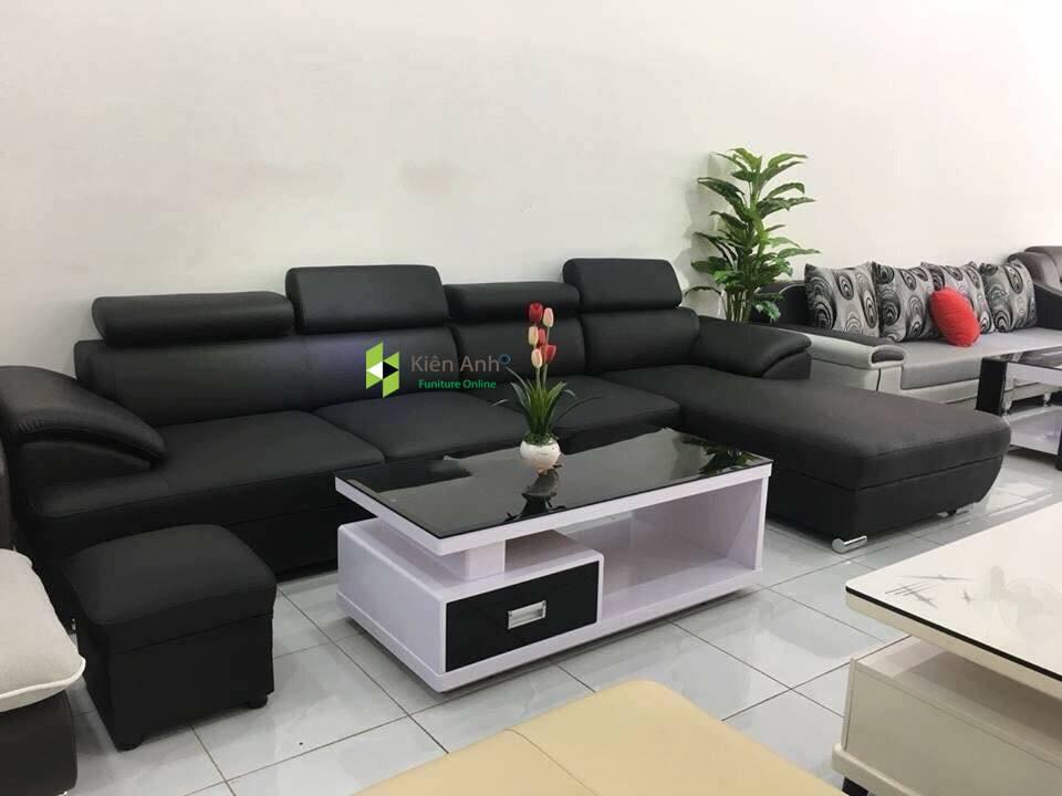 Sofa Da Phòng Khách KA014 - Nội Thất Kiên Anh