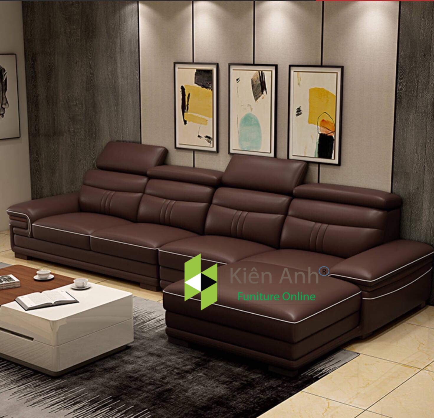 Sofa da G002 - Nội Thất Kiên Anh