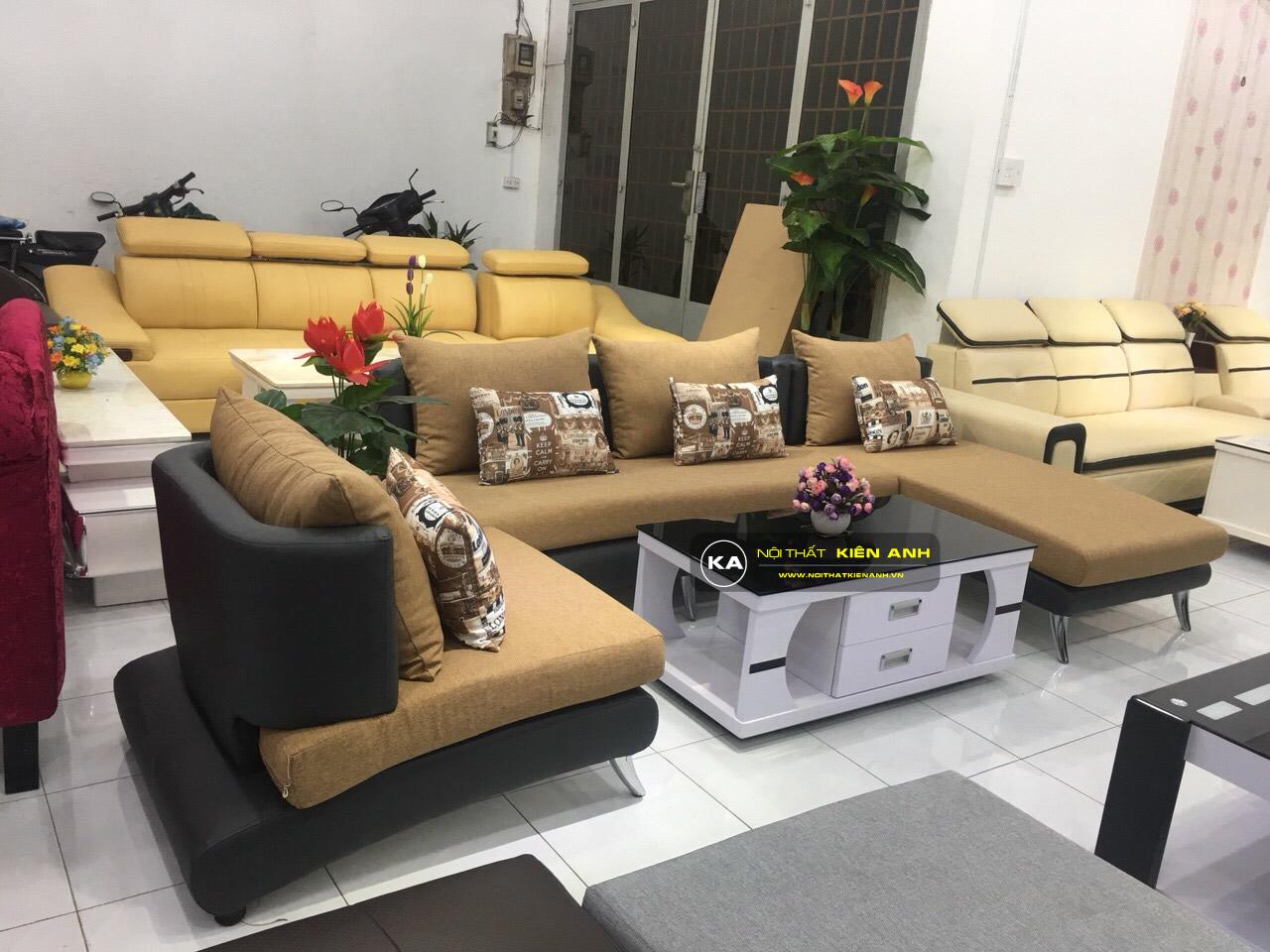 Sofa Vải Lưng Cong KA0013 - Nội Thất Kiên Anh