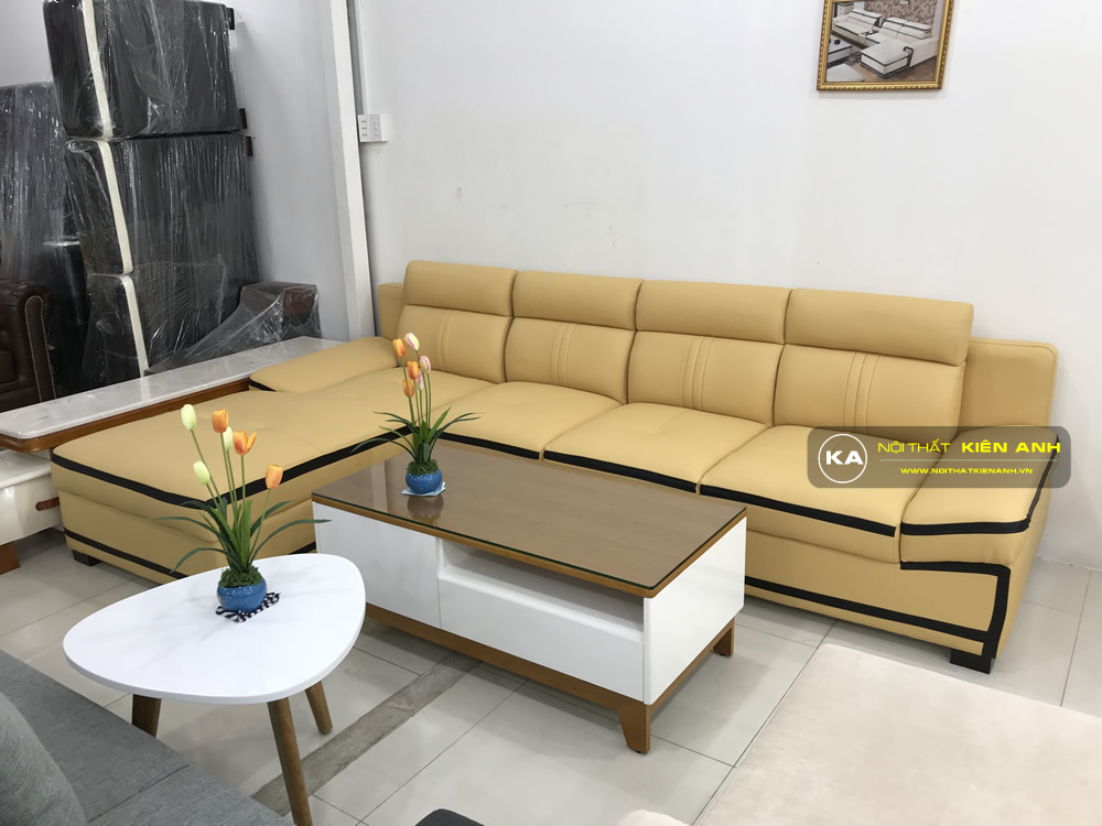Sofa Da Phòng Khách KA013 - Nội Thất Kiên Anh