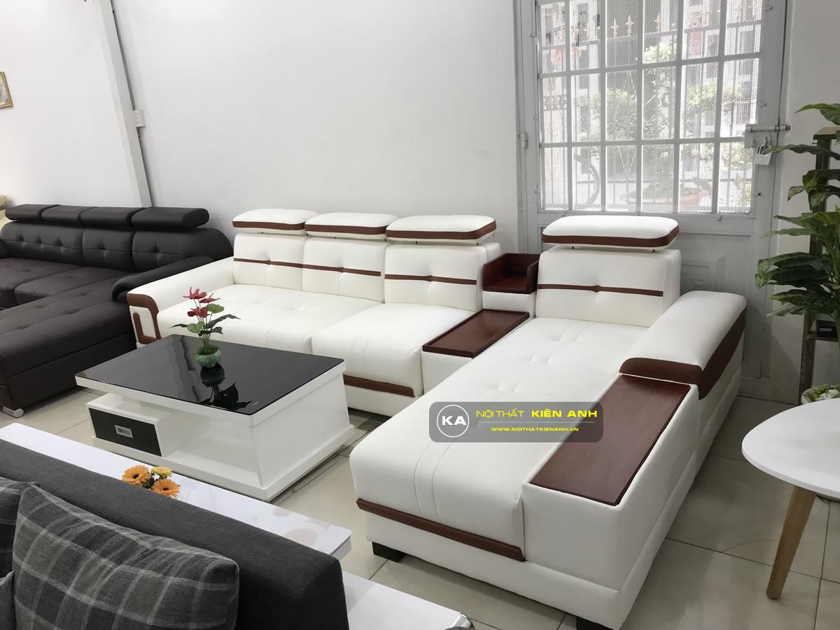 Sofa Da Phòng Khách KA012 - Nội Thất Kiên Anh