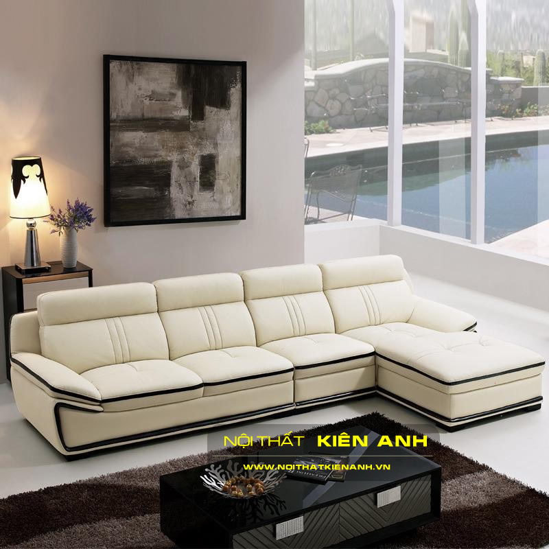 Sofa Da Phòng Khách KA015 - Nội Thất Kiên Anh