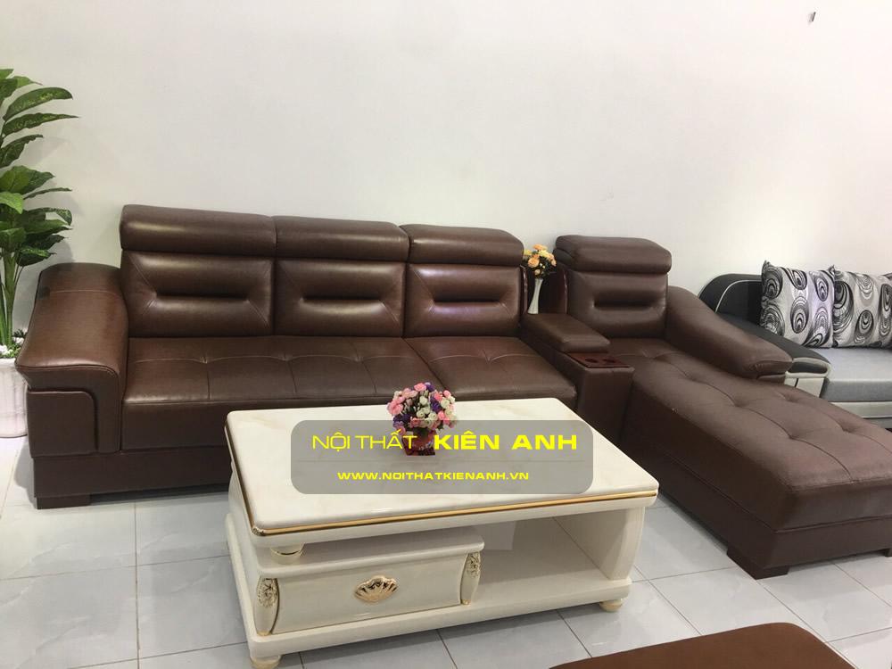 Sofa Da Đầu Ép KA010 - Nội Thất Kiên Anh