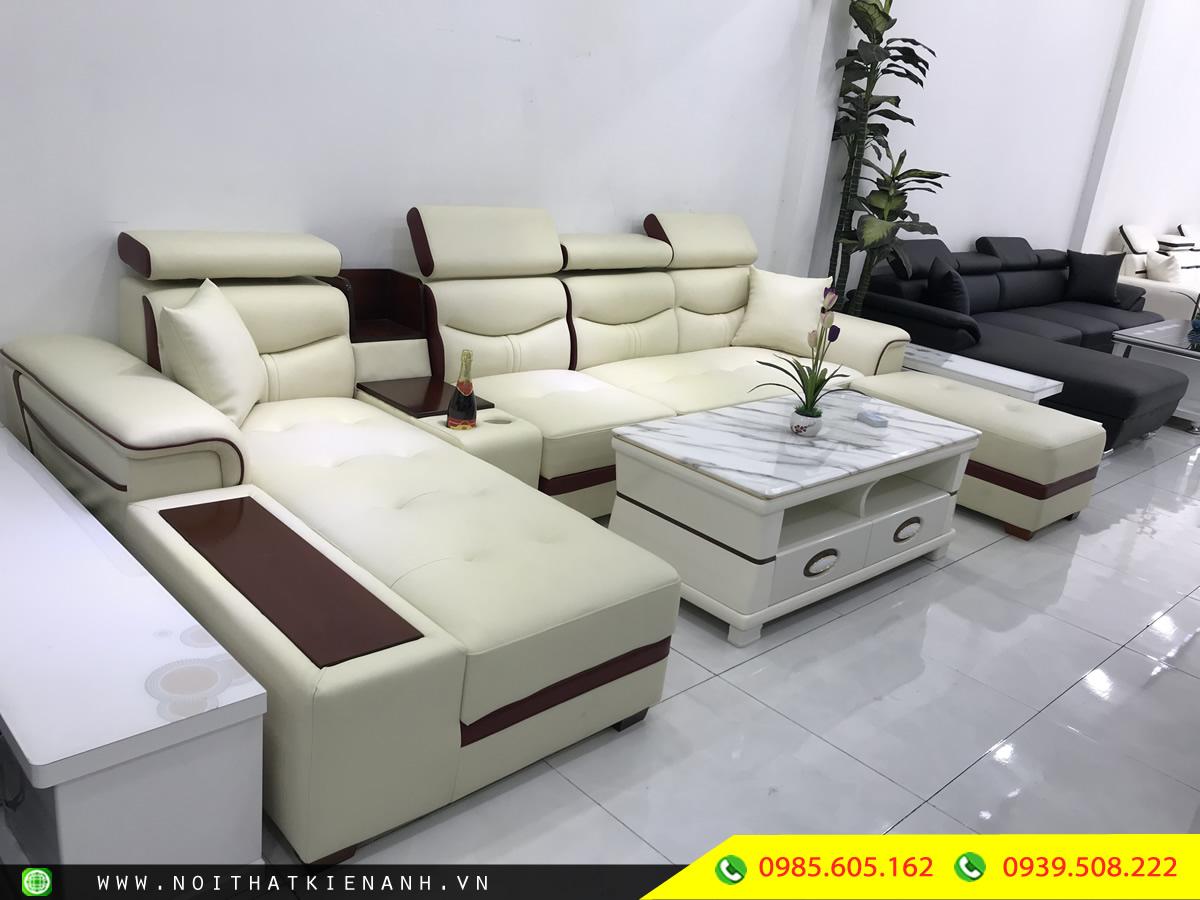 Sofa Da Phòng Khách KA.009 - Nội Thất Kiên Anh
