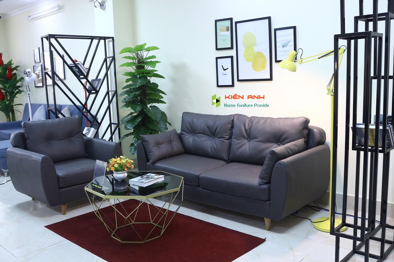 Ghế sofa băng da chính hãng KIA.S11 , sofa cho căn hộ & phòng khách nhỏ . - Nội Thất Kiên Anh