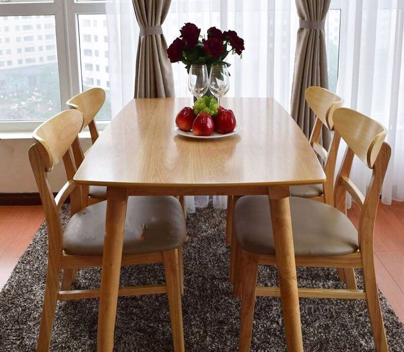 Bàn ăn mango gỗ 4 ghế - Nội Thất Kiên Anh